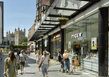Princesshay Shopping Centre - with Cathedral View