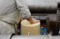 Cheese being prepared
