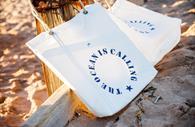 Sails and Canvas bag on the beach