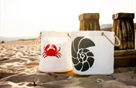 Sails and Canvas crab and shell bag
