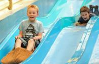 Child on the slide