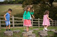 Children enjoy playing freely at The Donkey Sanctuary