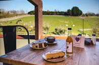 Al fresco dining at The Kitchen at The Donkey Sanctuary