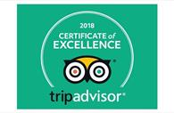 TripAdvisor Certificate of Excellence 2018 for the Red Coat Tours