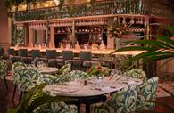 The Ivy, Exeter - pink and green floral decor, bar