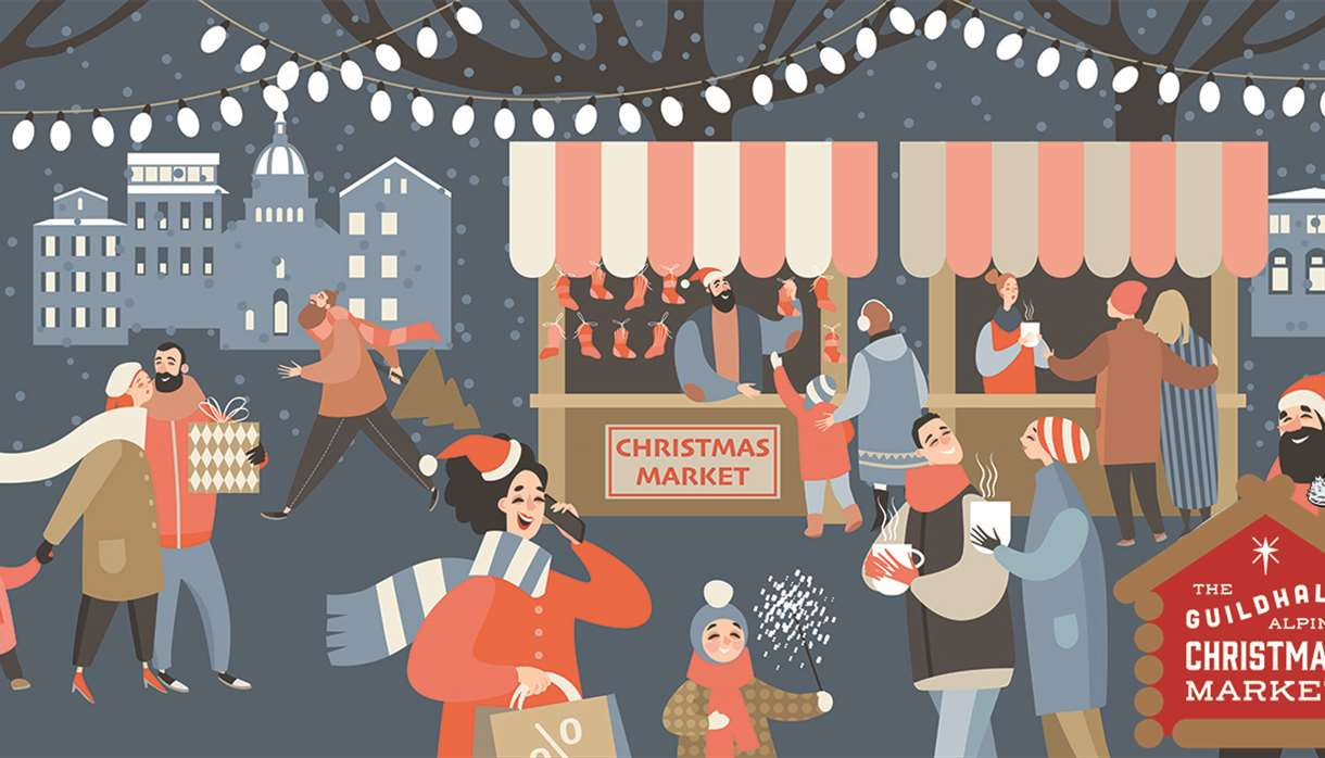 Exeter Guildhall Alpine Christmas Market