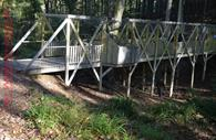 Outdoor bridge in activity centre