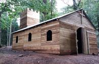 Wooden church in activity centre