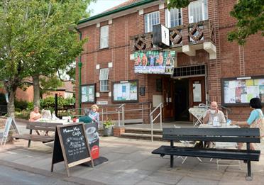 Matthews Hall Cafe exterior