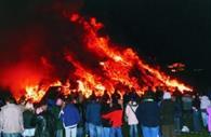 Bonfire at Tar Barrels