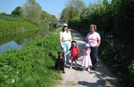Walking at the Grand Western Canal Country Park