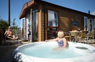 Ladram Bay hot tub lodge