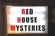 Red House Mysteries signage