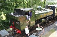South Devon Railway - constructors on the train