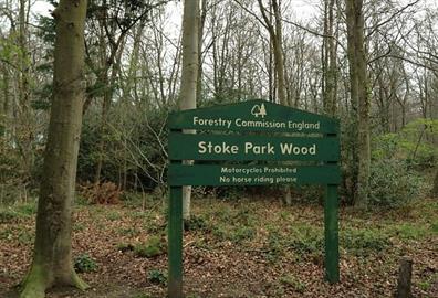 Stoke Woods, Exeter - signage