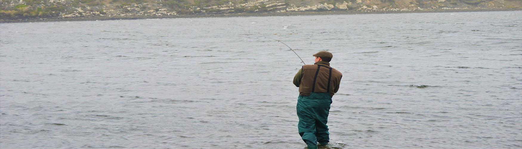 Trout fishing in the Falklands