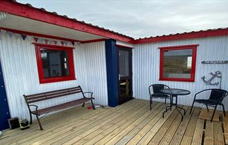 The beach hut_Kingsford Creek_San carlos_Falkland Islands