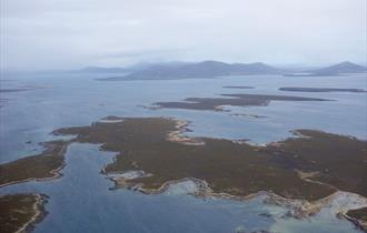 Aerial view of the Falkland Islands