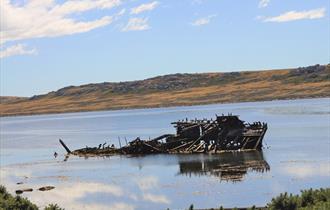 Jhelum Shipwreck 2019 in Stanley, Falkland Islands