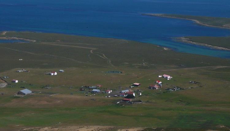 The Settlement from the air