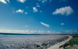 A glorious sunny day on Volunteer Beach in the Falkland Islands
