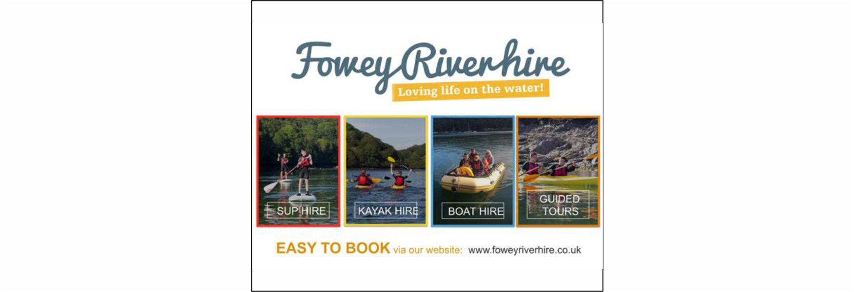Fowey River Hire - Loving Life on the Water - Easy to book via our website - www.foweyriverhire.co.uk