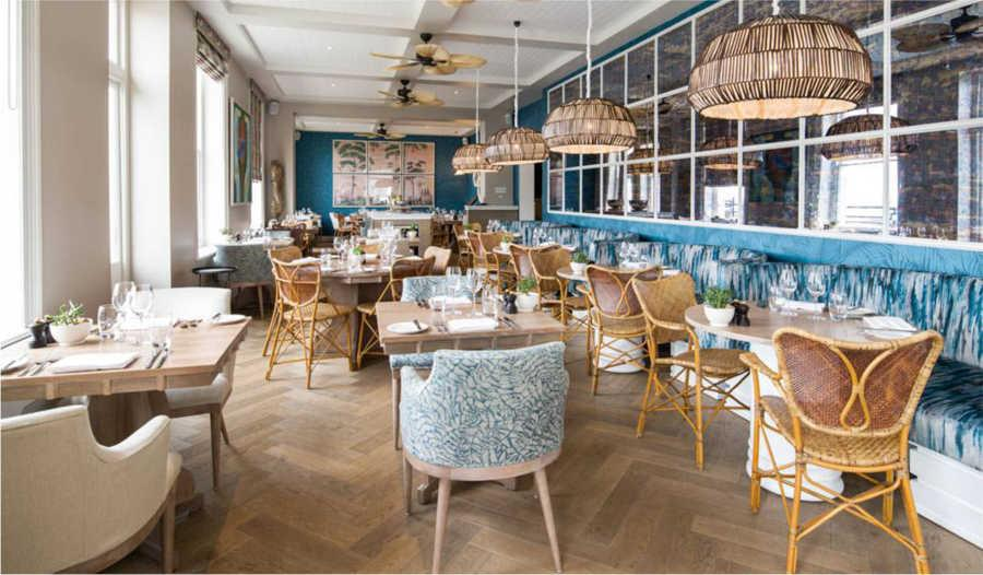 Kitchen, Bar & Terrace at the Fowey Harbour Hotel