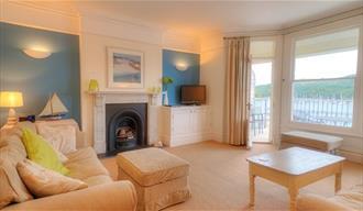 Sitting room, Tide House, Fowey