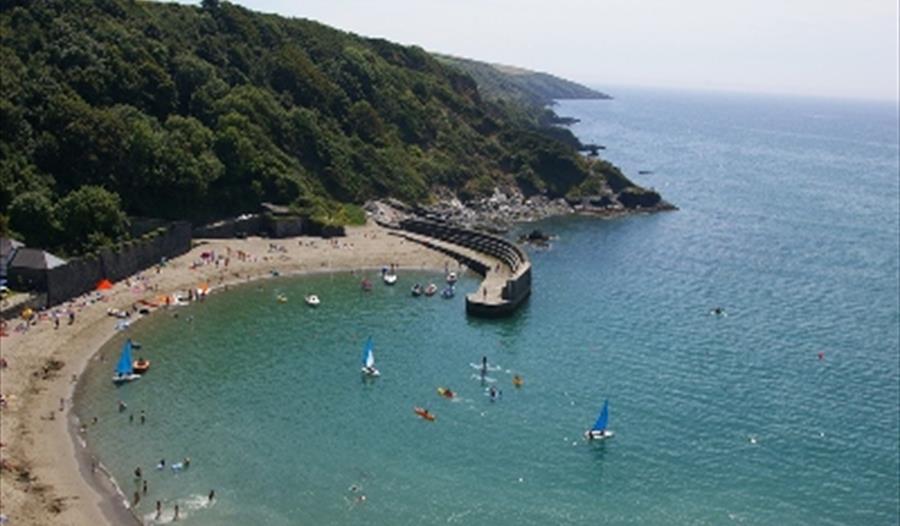 Polkerris Beach, Fowey, Cornwall