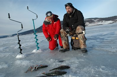 Ice fishing near Clarion Collection Hotel Grand
