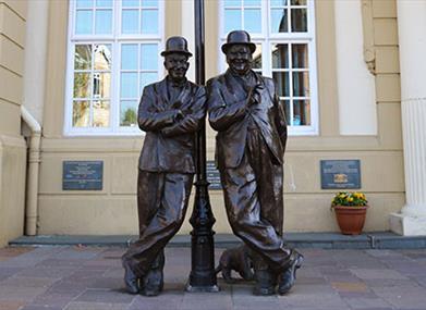 Laurel & Hardy Statue, Ulverston