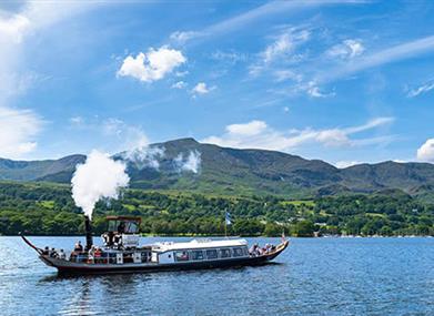 Steam Yacht Gondola on Coniston Water