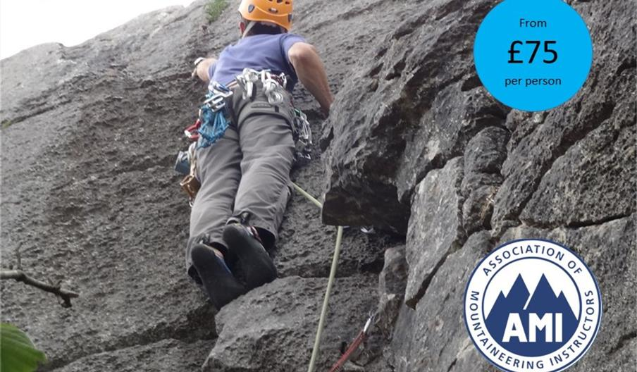 Rock Climbing Instruction (single-pitch) with The Lakes Mountaineer