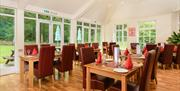 Dining room at Woodlands Country House Hotel