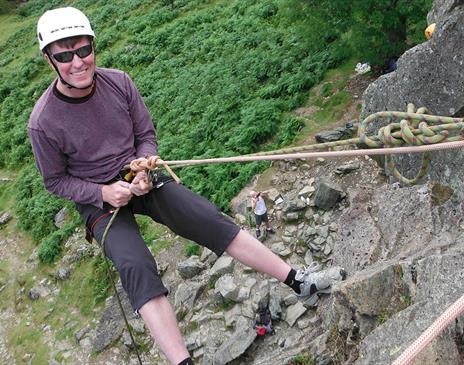 Abseiling near Coniston with More Than Mountains
