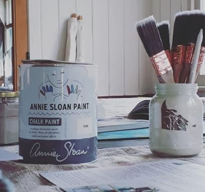 Annie Sloan Painting Techniques at Hare Hill Barn