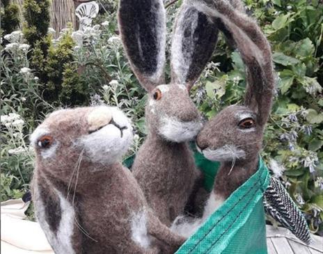 Needle Felt - Hares