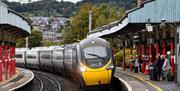 Avanti West Coast train pulls into Penrith Station