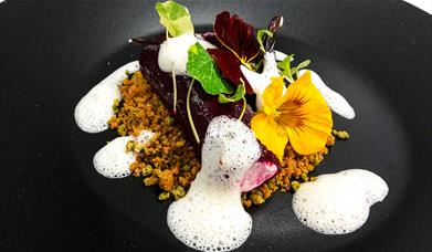 Beech Hill Hotel & Lakeview Spa - Burlington's Restaurant - Goats Cheese and Beetroot Canneloni