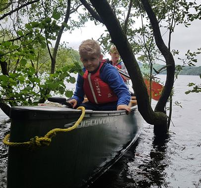 Canoeing with Path to Adventure