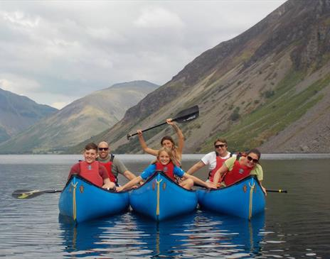 Canoeing on Wastwater - England's deepest Lake