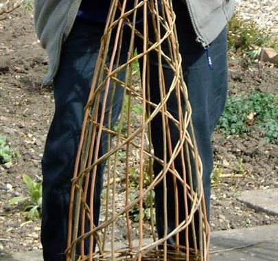 Willow Plant Support Workshop at Hare Hill Barn