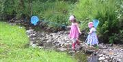 The stream in the garden at High Dale Park Barn