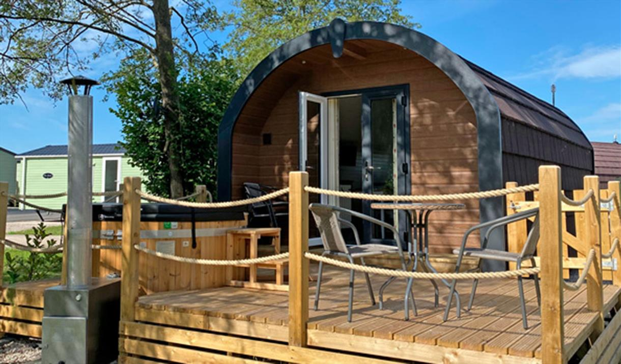 Hall More Rustic Glamping Pods with Hot Tubs