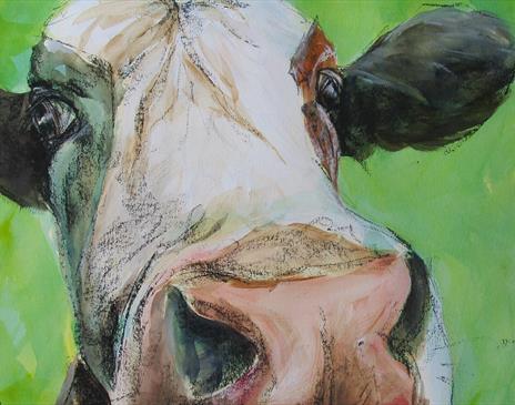 Paint animals in mix media