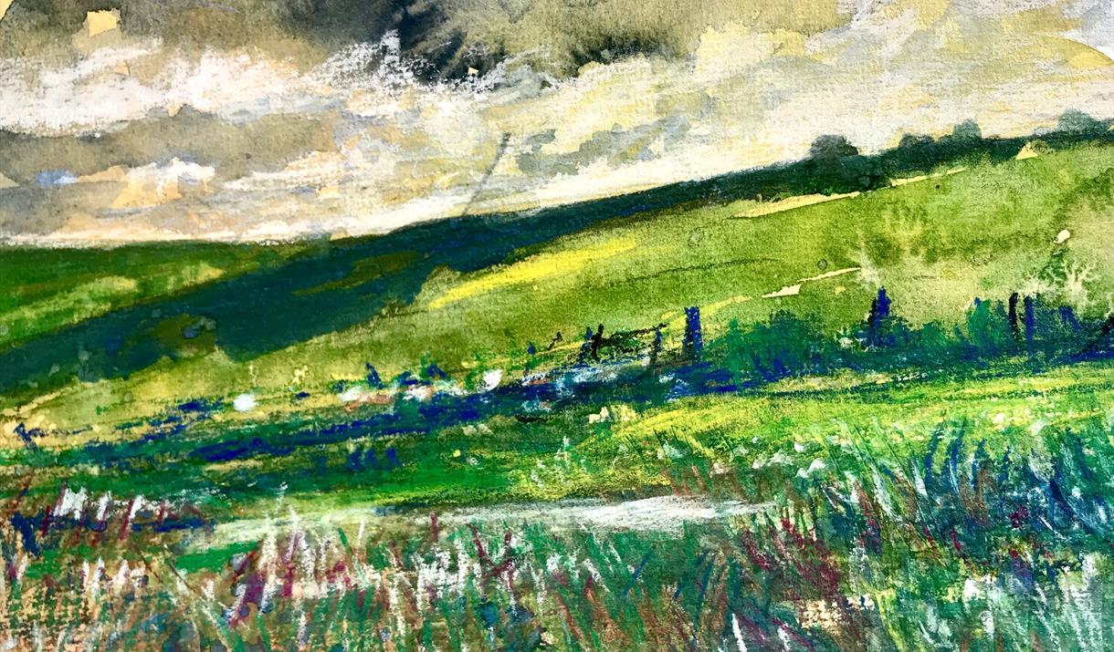 Lakeland Landscape in Mixed Media