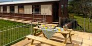 Maid of Kent outdoor seating area