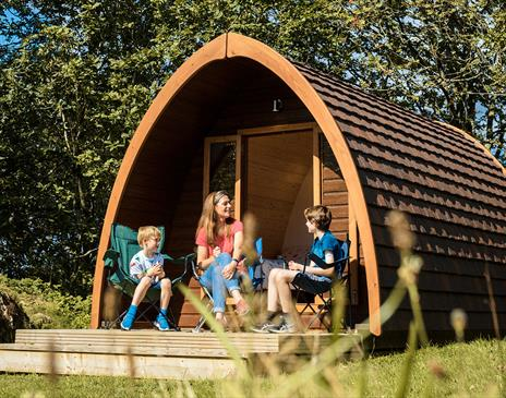 Camping pods at Park Cliffe