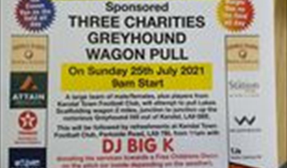 Three charities Greyhound Wagon pull