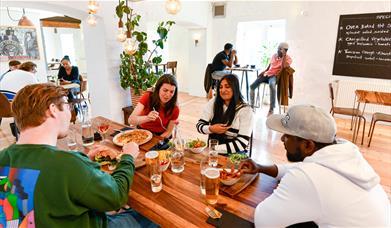 Dine in Brewery Arts' newly refurbished Bar & Restaurant.